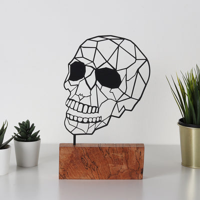 Bystag metal wood decorative deco art ornament skull