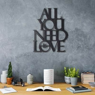 Bystag Metal Decorative Wall art Love-all you need is love-wall art-metal wall art-metal decor-housewarming gift- christmas gift-wall decor-wall hangings
