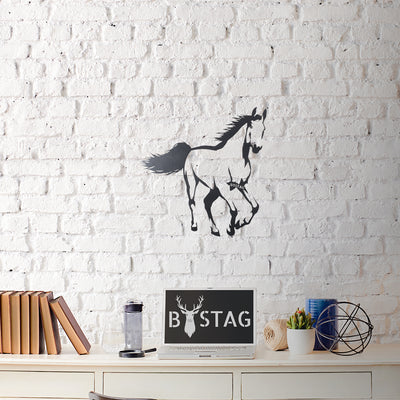 Bystag Metal Decorative Wall art horse-wall art-metal wall art-metal decor-housewarming gift- christmas gift-wall decor-wall hangigns