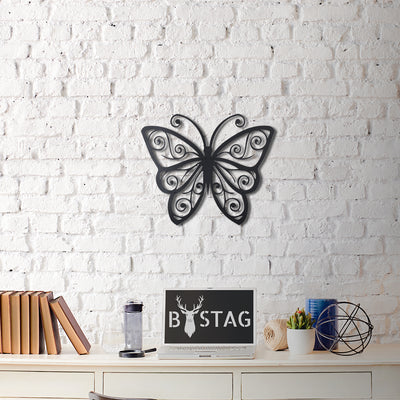 Bystag Metal Decorative Wall art butterfly-wall art-metal wall art-metal decor-housewarming gift- christmas gift-wall decor-wall hangigns