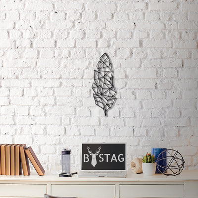 Bystag Metal Decorative Wall art feather-wall art-metal wall art-metal decor-housewarming gift- christmas gift-wall decor-wall hangigns