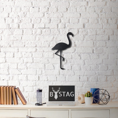 Bystag Metal Decorative Wall art flamingo-wall art-metal wall art-metal decor-housewarming gift- christmas gift-wall decor-wall hangigns