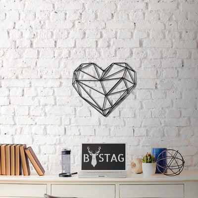 Bystag Metal Decorative Wall art heart-wall art-metal wall art-metal decor-housewarming gift- christmas gift-wall decor-wall hangigns
