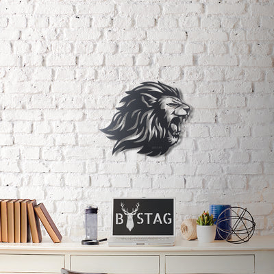 Bystag Metal Decorative Wall art lion-wall art-metal wall art-metal decor-housewarming gift- christmas gift-wall decor-wall hangigns