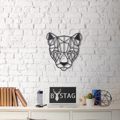 Bystag Metal Decorative Wall art puma-wall art-metal wall art-metal decor-housewarming gift- christmas gift-wall decor-wall hangigns