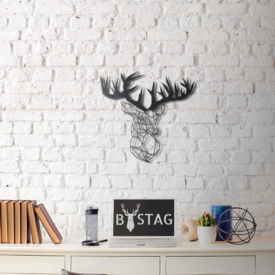 Bystag Metal Decorative Wall art stag-wall art-metal wall art-metal decor-housewarming gift- christmas gift-wall decor-wall hangigns