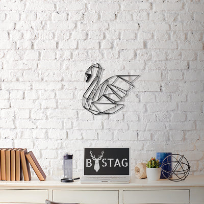 Bystag Metal Decorative Wall art swan-wall art-metal wall art-metal decor-housewarming gift- christmas gift-wall decor-wall hangigns