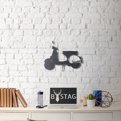Bystag Metal Decorative Wall art vespa-wall art-metal wall art-metal decor-housewarming gift- christmas gift-wall decor-wall hangigns