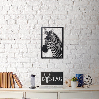 Bystag Metal Decorative Wall art zebra-wall art-metal wall art-metal decor-housewarming gift- christmas gift-wall decor-wall hangigns