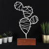 Bystag metal wood decorative table ornament Cactus