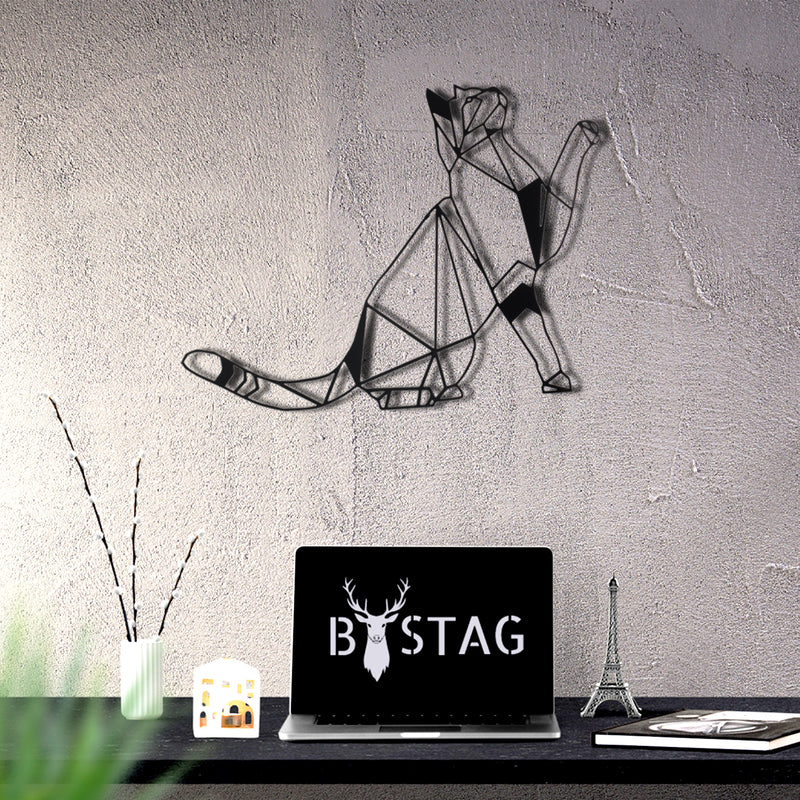 Bystag Metal Decorative Wall art cat-wall art-metal wall art-metal decor-housewarming gift- christmas gift-wall decor-wall hangings