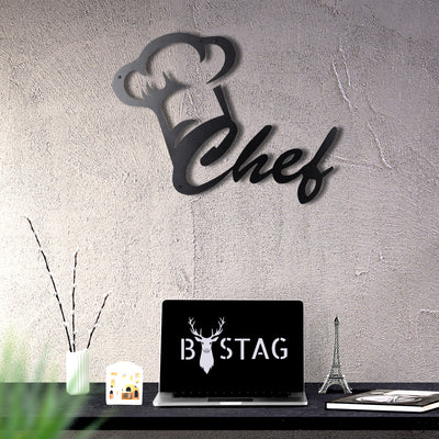 Bystag Metal Decorative Wall art chef-cook-wall art-metal wall art-metal decor-housewarming gift- christmas gift-wall decor-wall hangings
