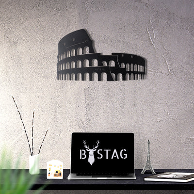 Bystag Metal Decorative Wall art colosseum-wall art-metal wall art-metal decor-housewarming gift- christmas gift-wall decor-wall hangings