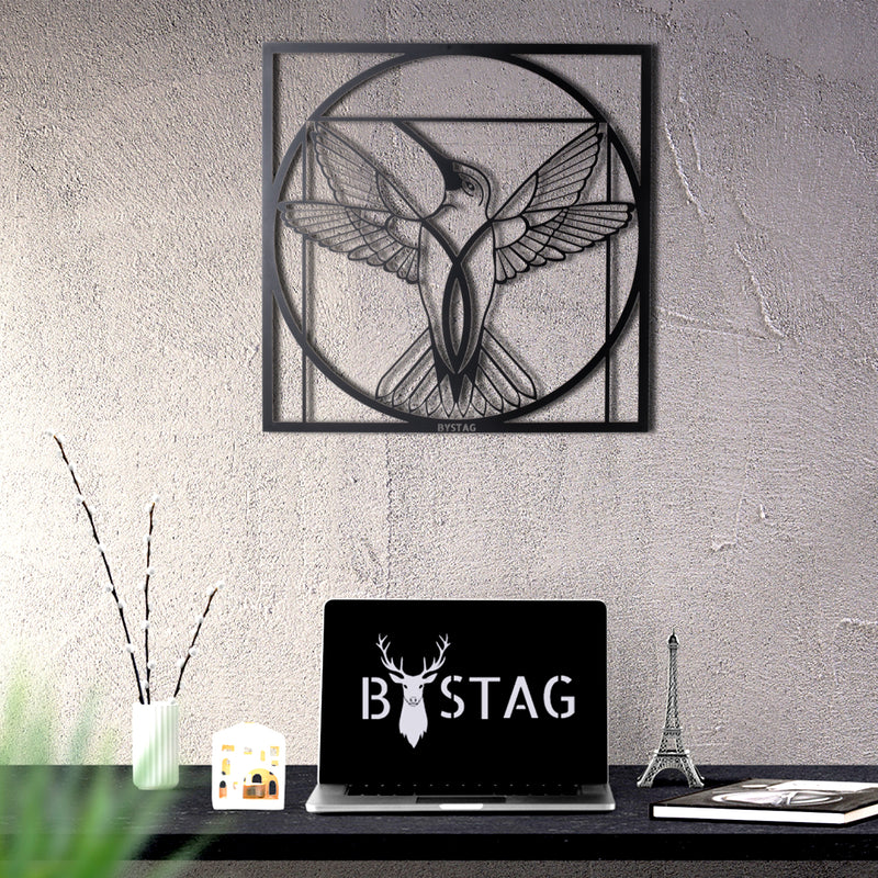 Bystag Metal Decorative Wall art da vinci- da vinci bird-wall art-metal wall art-metal decor-housewarming gift- christmas gift-wall decor-wall hangings