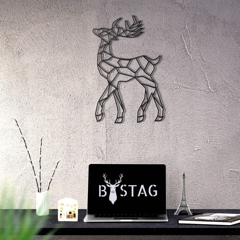 Bystag Metal Decorative Wall art deer-wall art-metal wall art-metal decor-housewarming gift- christmas gift-wall decor-wall hangings