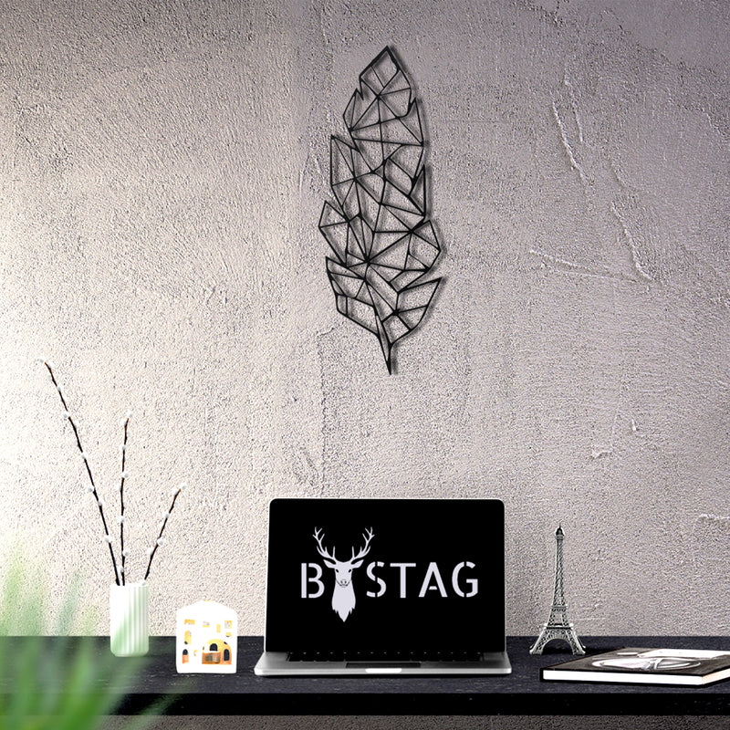 Bystag Metal Decorative Wall art feather-wall art-metal wall art-metal decor-housewarming gift- christmas gift-wall decor-wall hangings
