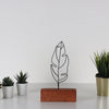 Bystag metal wood decorative table ornament Feather Mini