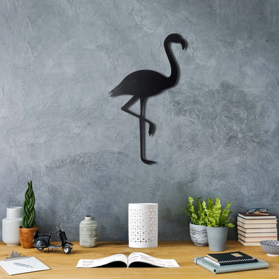 Bystag Metal Decorative Wall art flamingo-wall art-metal wall art-metal decor-housewarming gift- christmas gift-wall decor-wall hangings