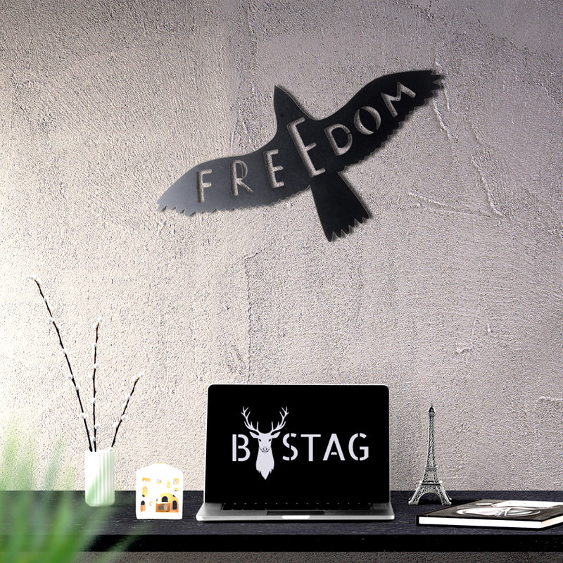 Bystag Metal Decorative Wall art freedom-wall art-metal wall art-metal decor-housewarming gift- christmas gift-wall decor-wall hangings