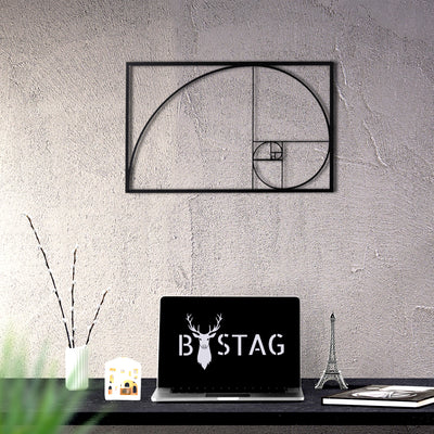 Bystag Metal Decorative Wall art golden ratio-wall art-metal wall art-metal decor-housewarming gift- christmas gift-wall decor-wall hangings