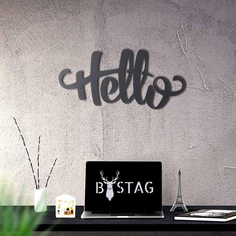Bystag Metal Decorative Wall art hello-wall art-metal wall art-metal decor-housewarming gift- christmas gift-wall decor-wall hangings