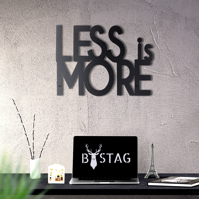 Bystag Metal Decorative Wall art less is more-wall art-metal wall art-metal decor-housewarming gift- christmas gift-wall decor-wall hangings