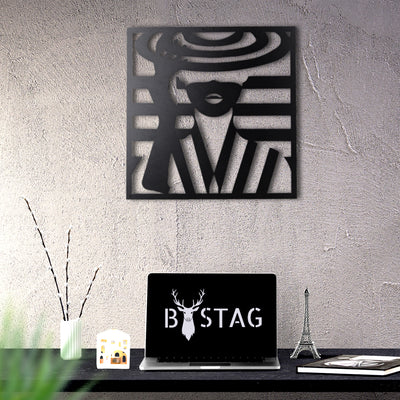 Bystag Metal Decorative Wall art woman-wall art-metal wall art-metal decor-housewarming gift- christmas gift-wall decor-wall hangings