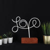 Bystag metal wood decorative table ornament Love