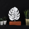 Bystag metal wood decorative table ornament Monstera
