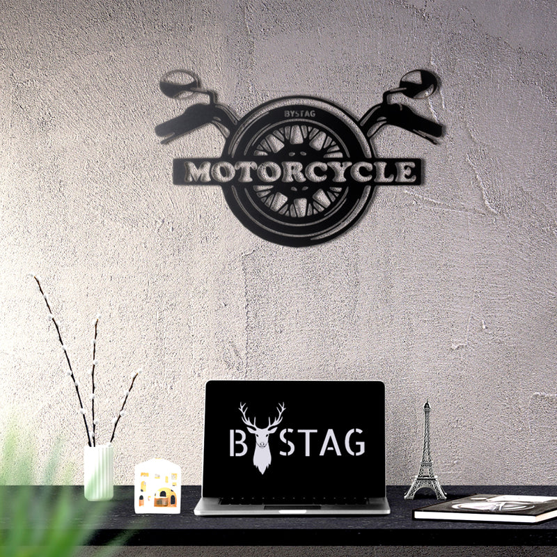 Bystag Metal Decorative Wall art motorcycle-wall art-metal wall art-metal decor-housewarming gift- christmas gift-wall decor-wall hangings