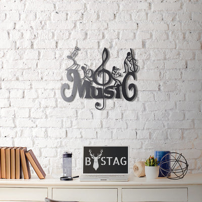 Bystag Metal Decorative Wall art music-wall art-metal wall art-metal decor-housewarming gift- christmas gift-wall decor-wall hangigns