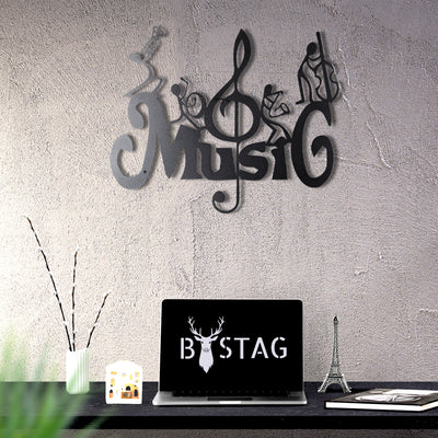 Bystag Metal Decorative Wall art music-wall art-metal wall art-metal decor-housewarming gift- christmas gift-wall decor-wall hangings