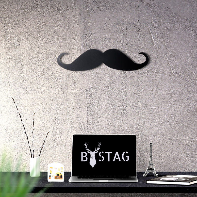 Bystag Metal Decorative Wall art mustache-wall art-metal wall art-metal decor-housewarming gift- christmas gift-wall decor-wall hangings