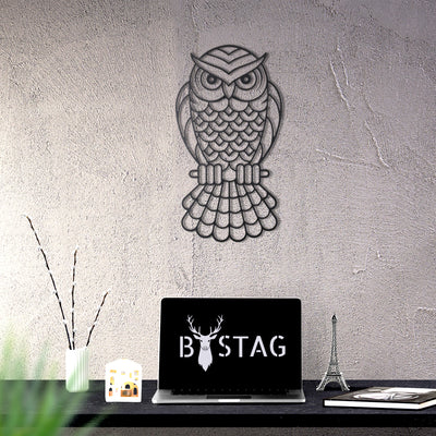 Bystag Metal Decorative Wall art owl-wall art-metal wall art-metal decor-housewarming gift- christmas gift-wall decor-wall hangings
