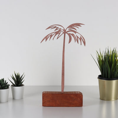 Bystag metal wood decorative table ornament Palm