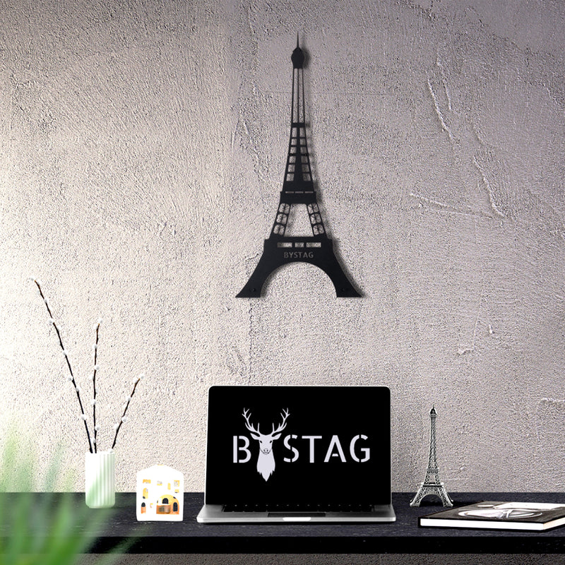 Bystag Metal Decorative Wall art eiffel-paris-wall art-metal wall art-metal decor-housewarming gift- christmas gift-wall decor-wall hangings