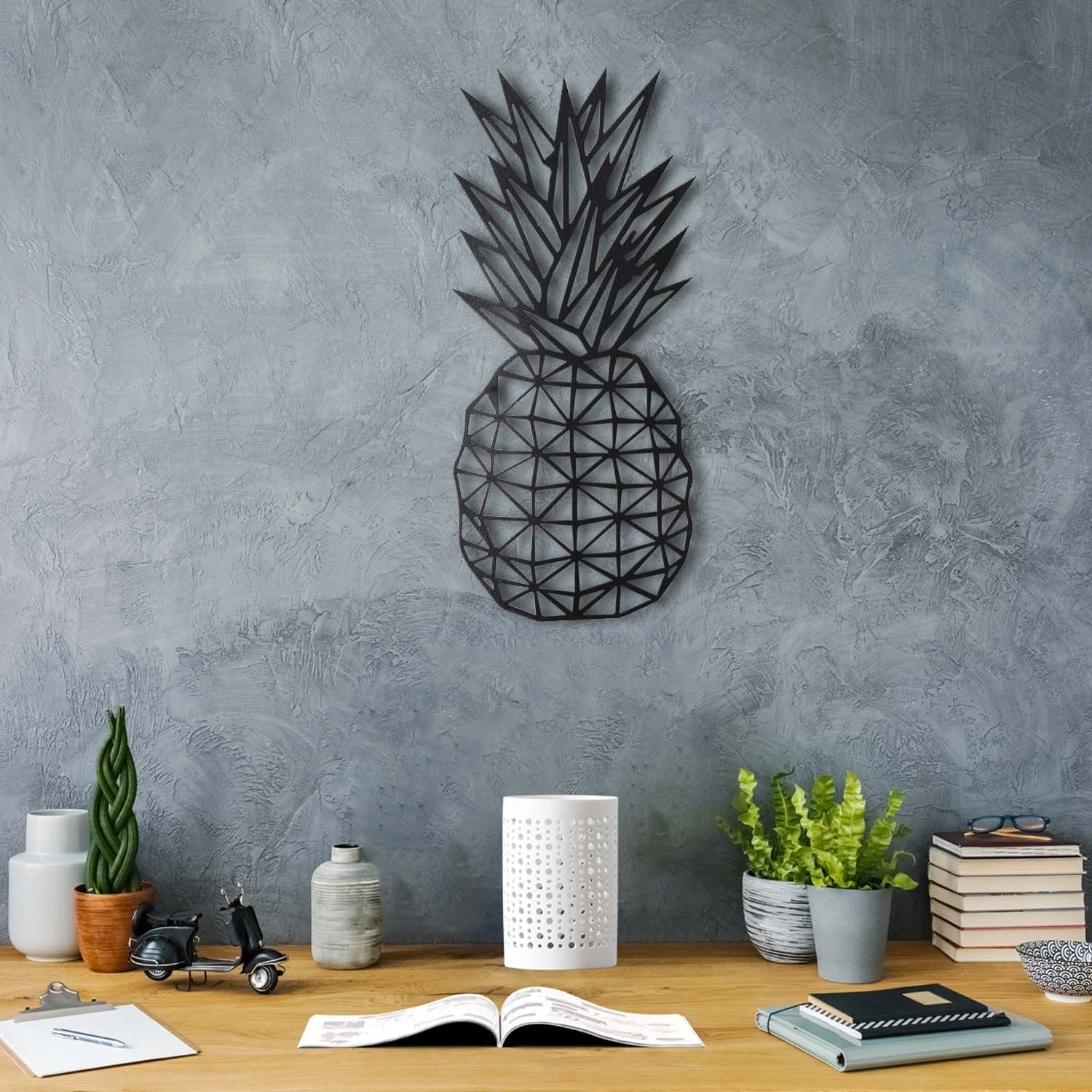 Bystag Metal Decorative Wall art pineapple-wall art-metal wall art-metal decor-housewarming gift- christmas gift-wall decor-wall hangings