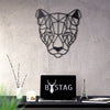 Bystag Metal Decorative Wall art puma-wall art-metal wall art-metal decor-housewarming gift- christmas gift-wall decor-wall hangings