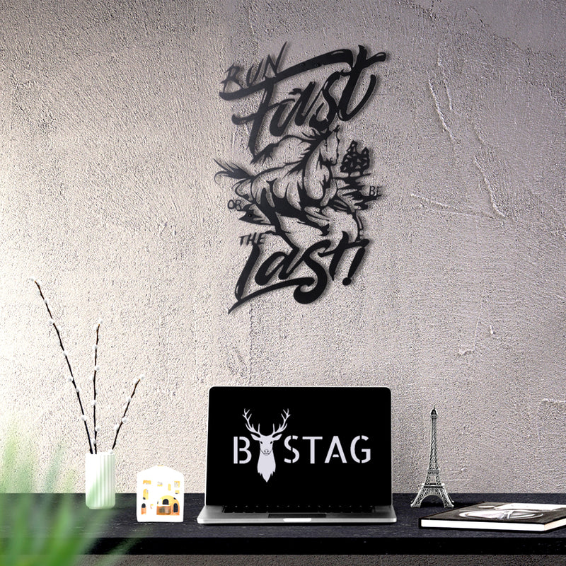 Bystag Metal Decorative Wall art run fast or be the last-wall art-metal wall art-metal decor-housewarming gift- christmas gift-wall decor-wall hangings