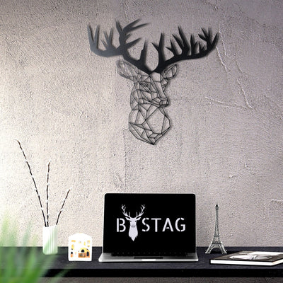 Bystag Metal Decorative Wall art stag-wall art-metal wall art-metal decor-housewarming gift- christmas gift-wall decor-wall hangings