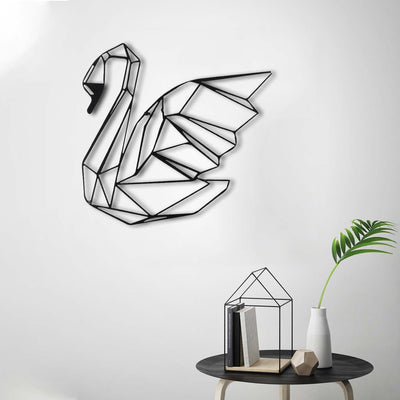 Bystag Metal Decorative Wall art swan-wall art-metal wall art-metal decor-housewarming gift- christmas gift-wall decor-wall hangings