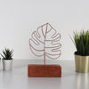 Bystag metal wood decorative table ornament Thin Leaf