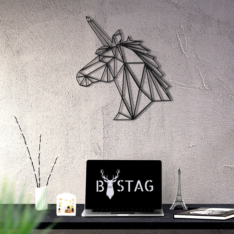 Bystag Metal Decorative Wall art unicorn-wall art-metal wall art-metal decor-housewarming gift- christmas gift-wall decor-wall hangings