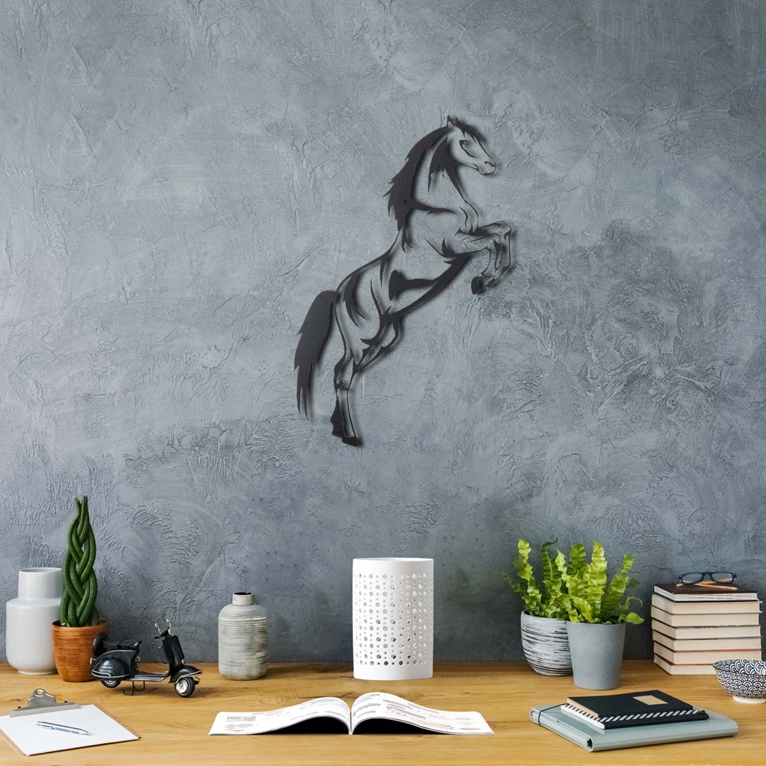 Bystag Metal Decorative Wall art horse-wall art-metal wall art-metal decor-housewarming gift- christmas gift-wall decor-wall hangings