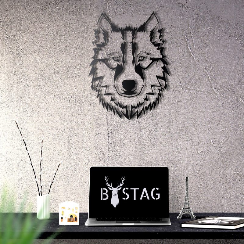 Bystag Metal Decorative Wall art wolf-wall art-metal wall art-metal decor-housewarming gift- christmas gift-wall decor-wall hangings