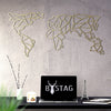 World Map Geometric geometrical metal wall art decor gold bystag