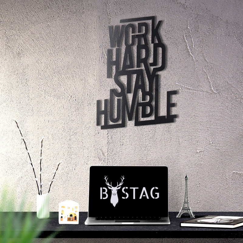 Bystag Metal Decorative Wall art work hard stay humble-wall art-metal wall art-metal decor-housewarming gift- christmas gift-wall decor-wall hangings