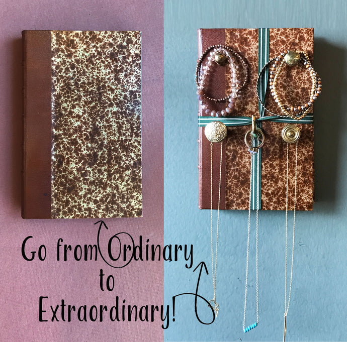 Wall Decor Book Jewelry Holder