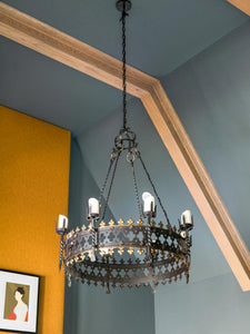Great Room gothic chandelier for HGTV Smart Home 2019