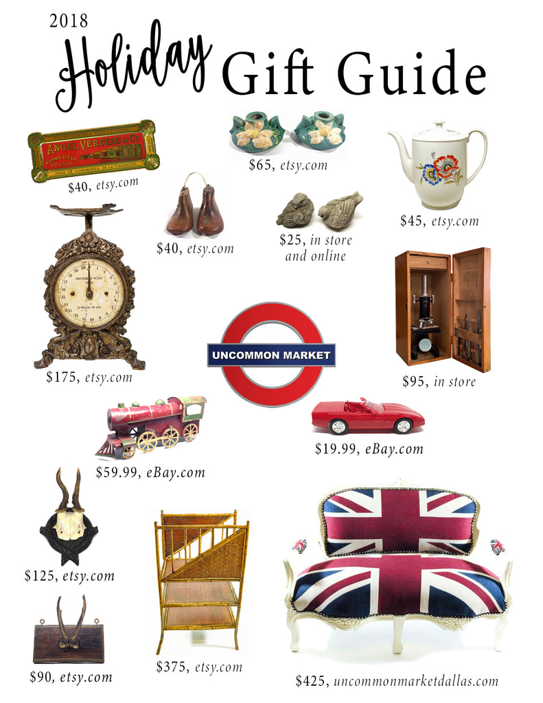 2018 gift guide with furniture, home accessories, art and mirrors